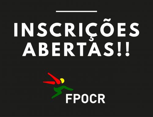 INSCRIÇÕES ABERTAS FPOCR!!